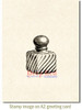 Vintage Perfume Bottle Rubber Cling Stamp by Deep Red Stamps shown on A2 card
