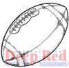 Football Rubber Cling Stamp by Deep Red Stamps