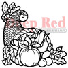 Horn of Plenty Rubber Cling Stamp by Deep Red Stamps
