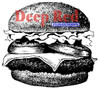 Cheeseburger Rubber Cling Stamp by Deep Red Stamps