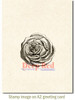 Rose Engraving Rubber Cling Stamp by Deep Red Stamps shown on A2 card
