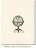 Antique Globe Rubber Cling Stamp by Deep Red Stamps shown on A2 card