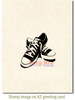 All Star Sneakers Rubber Cling Stamp by Deep Red Stamps shown on A2 card