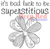 Superstitious Rubber Cling Stamp by Deep Red Stamps