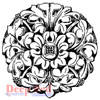 Wrought Iron Medallion Rubber Cling Stamp by Deep Red Stamps