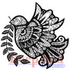 Dove Zentangle Rubber Cling Stamp by Deep Red Stamps