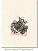Dove Zentangle Rubber Cling Stamp by Deep Red Stamps shown on A2 card