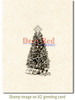 Decorated Christmas Tree Rubber Cling Stamp by Deep Red Stamps shown on A2 card