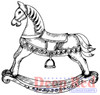 Rocking Horse Rubber Cling Stamp by Deep Red Stamps