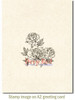 Carnation Blooms Rubber Cling Stamp by Deep Red Stamps shown on A2 card