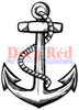 Anchor Rubber Cling Stamp by Deep Red Stamps