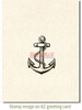 Anchor Rubber Cling Stamp by Deep Red Stamps shown on A2 card