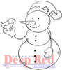 Snowman and Partridge Rubber Cling Stamp by Deep Red Stamps