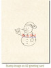 Snowman and Partridge Rubber Cling Stamp by Deep Red Stamps shown on A2 card
