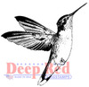 Hummingbird Rubber Cling Stamp by Deep Red Stamps