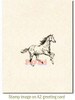 Spirited Horse Rubber Cling Stamp by Deep Red Stamps shown on A2 card