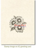 Daisies Rubber Cling Stamp by Deep Red Stamps shown on A2 card