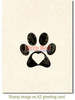 Pawprint Rubber Cling Stamp by Deep Red Stamps shown on A2 card