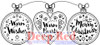 Warm Hearts Rubber Cling Stamp by Deep Red Stamps