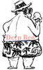 Single Scoop Rubber Cling Stamp by Deep Red Stamps