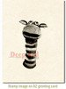 Sock Puppet Rubber Cling Stamp by Deep Red Stamps shown on A2 card