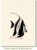 Angelfish Rubber Cling Stamp by Deep Red Stamps shown on A2 card