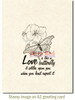 Love is Like a Butterfly Rubber Cling Stamp by Deep Red Stamps shown on A2 card