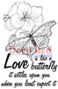 Love is Like a Butterfly Rubber Cling Stamp by Deep Red Stamps
