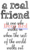 A Real Friend Rubber Cling Stamp by Deep Red Stamps