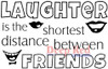 Laughter Between Friends Rubber Cling Stamp by Deep Red Stamps
