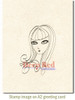 Olivia Rubber Cling Stamp by Deep Red Stamps shown on A2 card