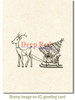 Reindeer with Gifts Rubber Cling Stamp by Deep Red Stamps shown on A2 card