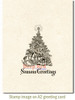 Seasons' Greetings Tree Rubber Cling Stamp by Deep Red Stamps shown on A2 card