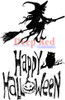 Halloween Witch Rubber Cling Stamp by Deep Red Stamps
