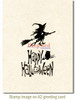 Halloween Witch Rubber Cling Stamp by Deep Red Stamps shown on A2 card