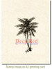 Coconut Palms Rubber Cling Stamp by Deep Red Stamps shown on A2 card