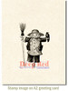Scarecrow with Crow Rubber Cling Stamp by Deep Red Stamps shown on A2 card