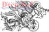 Divine Angels Rubber Cling Stamp by Deep Red Stamps