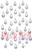 Rain Drops Rubber Cling Stamp by Deep Red Stamps
