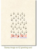 Rain Drops Rubber Cling Stamp by Deep Red Stamps shown on A2 card