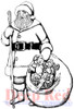 Old Saint Nick Rubber Cling Stamp by Deep Red Stamps