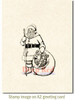 Old Saint Nick Rubber Cling Stamp by Deep Red Stamps shown on A2 card