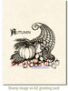 Cornicopia Rubber Cling Stamp by Deep Red Stamps shown on A2 card