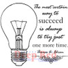 Always Succeed Rubber Cling Stamp by Deep Red Stamps