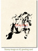 Steeplechase Rubber Cling Stamp by Deep Red Stamps shown on A2 card