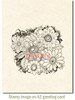 Color Me Daisies Rubber Cling Stamp by Deep Red Stamps shown on A2 card
