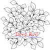 Bunch of Leaves Rubber Cling Stamp by Deep Red Stamps