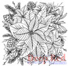 Color Me Poinsettia Rubber Cling Stamp by Deep Red Stamps