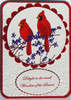 Cardinals Rubber Cling Stamp