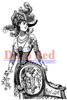 Derby Victorian Girl Cling Stamp by Deep Red Stamps
